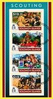 Bloc Feuillet Oblitéré De 4 Timbres-poste - Scouting Le Scoutisme - Îles Salomon 2015 - Salomon (Iles 1978-...)