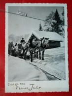 KOV 505-7 - HORSE, CHEVAL NEW YEAR - Chevaux