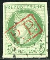 COLONIES GENERALES N°17 Cérès 5c Vert Obl  PP Encadré Rouge De La GUADELOUPE TB Timbre - Cérès