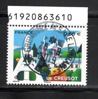 France  2019.Le Creusot.Cachet Rond Gomme D'origine - Frankrijk