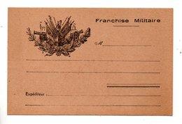 ENTIER POSTAL . CARTE POSTALE . F. M. . FRANCHISE MILITAIRE - Réf. N°798T - - Storia Postale