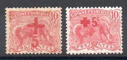 GUYANE - YT N° 73-74 - Neufs * - MH - Cote: 21,50 € - Französisch-Guayana (1886-1949)