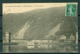 08 - MONTHERME - Le Pont Suspendu - BATEAU. - Montherme