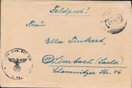 German Feldpost WW2: From Virbalis, Lithuania - 4./Transp. Sicherungs Bataillon 239 P/m 8.6.1944 (old Russian - Militares