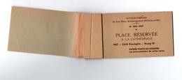 Carnet Souche Avec 4 Place à Détacher Intronisation De Son Exe, Monseigneur Douillard à La Cathédrale En 1947 - Tickets D'entrée