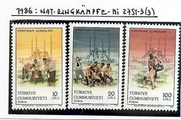 TURKEY 1986,SPORT,, MI NO 2751-3 ,MNH - Nuovi