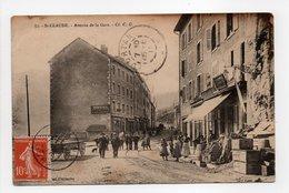 - CPA SAINT-CLAUDE (39) - Avenue De La Gare 1911 (belle Animation) - - Saint Claude