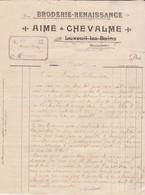 Facture A CHEVALME / Broderie Renaissance / Moulin Pierrey / La Chapelle Aux Bois / 88 Vosges - 1900 – 1949