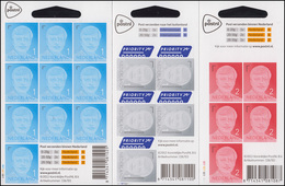 3189-3191I König Willem-Alexander - Mit Jahreszahl 2013, 3 Folienblätter ** - Netherlands
