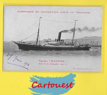 "CPA PAQUEBOT MANOUBA ☺♦♦ Nos Courriers Maritimes - "" Le Manouba "" Cie De Navigation Mixte  ֎  1916 - Autres"