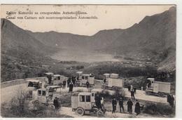KOTOR  ZALIEV KOTORSKI SA CRNOGORSKIM AUTOMOBILIMA  CANAL VON CATTARO MIT MONTENEGRISCHEN AUTOMOBILS  1909 - Montenegro