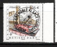 France  2019.Métiers D'Art Relieur.Cachet Rond Gomme D'Origine. - Frankrijk