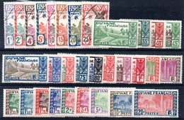 GUYANE - YT N° 109 à 132 - Neufs * - MH - Cote: 41,60 € - Unused Stamps