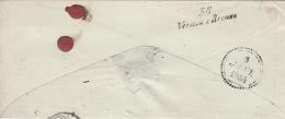 1854- Cursive D'arrivée De 36 / Vernou-s-Brenne  Sur Lettre De Mesle-s-Sarthe ( Orne ) - Postmark Collection (Covers)