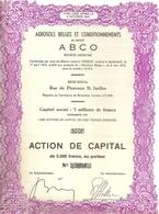 """Aerosols Belges Et Conditionnements - """"ABCO"""" - Actions & Titres"""