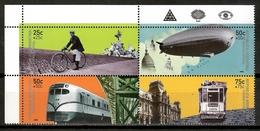Argentina 2000 / Transport Train Bicycle Zeppelin MNH Transportes Tren Bicicleta / Kp06  10-3 - Transporte