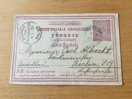 SCH3199 Türkei Ganzsache Stationery Entier Postal P 16a Von Konstantinopel Nach Berlin - 1858-1921 Empire Ottoman