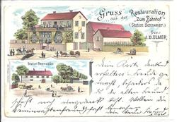 Gruss Aus Der Restauration Zum Bahnhof  à Bennweier (attention Carte Coupée à Droite) - Otros Municipios