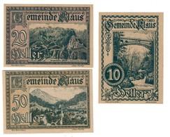 Austria Notgeld Lot / Set - KLAUS X 3 - Oostenrijk