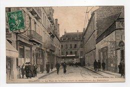 - CPA ROANNE (42) - La Rue De La Côte Avant La Démolition Du Carrefour (belle Animation) - Edition Lafay-Besacier - - Roanne