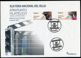 ESPAÑA / SPAIN / ESPAGNE (2017) - ATM XLIX Feria Nacional Del Sello - Cine - 25-28 Mayo Madrid - PM17 - Sobre / Cover - 1931-Hoy: 2ª República - ... Juan Carlos I