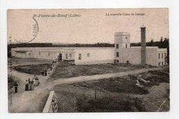 - CPA SAINT-PIERRE-DE-BOEUF (42) - La Nouvelle Usine De Tissage 1908 (avec Personnages) - Cliché C. D. - - Francia