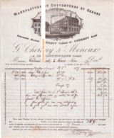 Beau Document Du 23/08/1887 CHERBUY & MENOUX - Manufacture De Couvertures Et Serges - Châtillon-sur-Loing 45 - 1800 – 1899