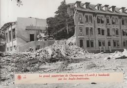 Photo Agence Rvd. Champrosay Nouvelle Photo . Sanatorium Bombardé Par Les Anglo Americains - Militaria