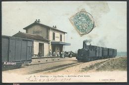 Chéroy - La Gare Arrivée D'un Train - N° 3 L. Lasseron édit. - Voir 2 Scans - Cheroy