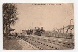- CPA BALBIGNY (42) - La Gare 1907 - La Voie - Edition Giroud N° 2 - - Francia