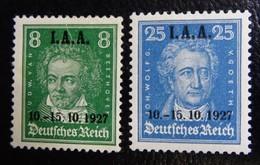 #100B# GERMANY REICH MICHEL 407,409, YVERT 398,400 MH*. - Deutschland