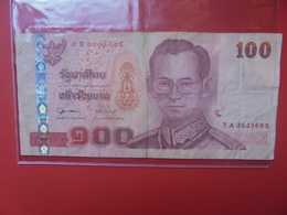THAILANDE 100 BAHT 2005 CIRCULER - Thailand