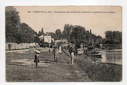 - CPA VERTOU (44) - Panorama Des Bords De La Sèvre à L'arrivée D'un Bateau 1916 - Photo VASSELLIER 829 - - Francia