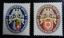 #28A# GERMANY REICH MICHEL 433,434, YVERT 424,425 MH*. - Deutschland