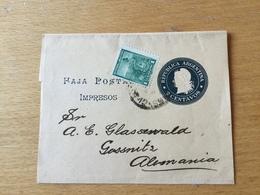 SCH3199 Argentinien Ganzsache Stationery Entier Postal Gebrauchtes Streifband - Postwaardestukken