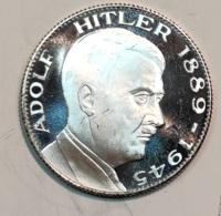 Jeton- Medaille  - ADOLF HITLER ( EIN VOLK EIN REICH EIN FÜHRER ) Arg. 16 Gr. - Altri