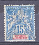 Saint Pierre Et Miquelon   64 Neuf Avec Trace De Charnière Lourde* TB Aspect MH Cote 22 - Usados