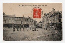 - CPA PUISEAUX (45) - Place Du Martroi Sud-Ouest (belle Animation) - Edition Meunier N° 17 - - Puiseaux