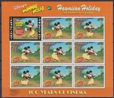 2504b  Walt Disney  Grenada  Minnie Mouse Hawaiian Holiday - 100 Years Of Cinema . - Grenade (1974-...)
