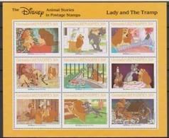 2513  Walt Disney  Grenada  Grenadines  Lady And The Tramp . - Grenade (1974-...)