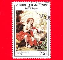 Nuovo Oblit. - BENIN - 1996 - Natale - San Giovanni Battista, Dipinto Di Murillo - 75 - Benin – Dahomey (1960-...)