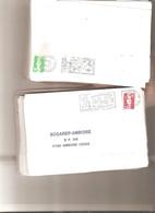 Marcophilie Environ 600 Flammes Sur Façade Enveloppe MARIANNE De BRIAT Environ 1kg200 - 502 - Poststempel (Briefe)