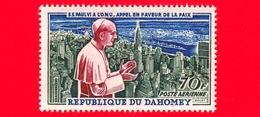 Nuovo - MNH - BENIN - Dahomey - 1966 - Papa Paolo VI All'ONU - Appello Per La Pace - 70 - P. Aerea - Benin – Dahomey (1960-...)