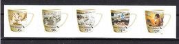 Nuova Zelanda  New Zealand - 2005. Tazzine Di Caffè Illustrate. Decorated Coffee Cups. Complete Self Adhesive Series MNH - Porcellana