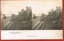 CARTE  STEREOSCOPIQUE- Nantes- Vue De La Loire Prise De Saint-Anne- Collection Villard N° 17-Recto Verso - Stereoscopische Kaarten