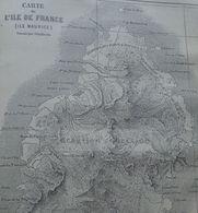 Old Map Of Mauritius -Carte D'Ile De France -gravure, Engraving 1861 TDM1861.2.305 - Stiche & Gravuren