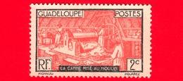 Nuovo - GUADALUPE - 1928 - Canna Da Zucchero Nel Mulino - 10 MH - Ongebruikt