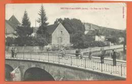 R274, Neuville Sur Seine, Pont Sur La Seine, Animée, Hommes Avec Hotte, Enfants, Cycliste,  Circulée - Autres Communes