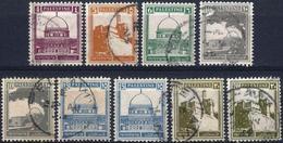 PALESTINE - ANNÉES 1927/1941 - DIVERS TIMBRES OBLITÉRÉS N° 65A/66/67/70/73/74 COMPRIS DOUBLE - Palestine
