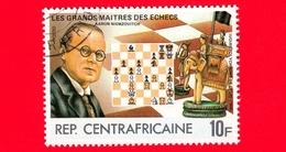 REPUBBLICA CENTROAFRICANA - Usato - 1983 - Grandi Maestri Degli Scacchi - Aaron Niemzovitch - 10 - Repubblica Centroafricana